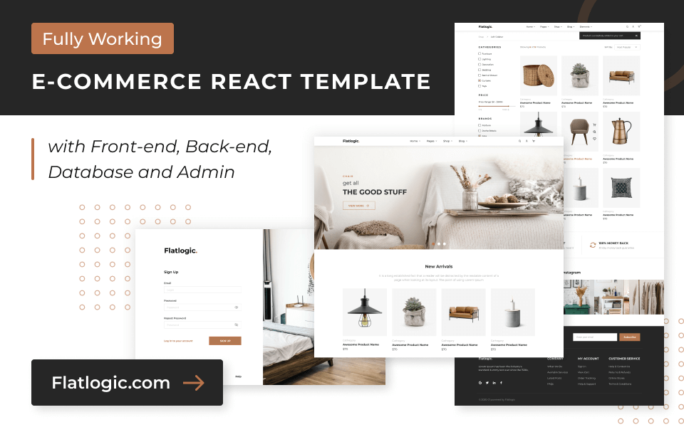 Ecommerce React Template Live Preview