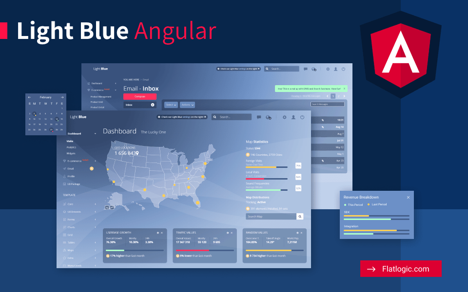 Light Blue Angular - Angular Admin Dashboard Template