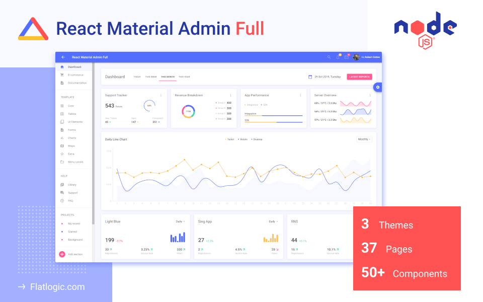 React Material UI Admin Node.js - React Material UI Admin with Node.JS Backend