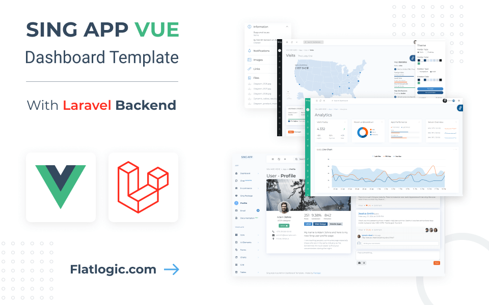 Sing App Vue Laravel Template - Ready-to-use Front-end + Backend CRUD PHP App