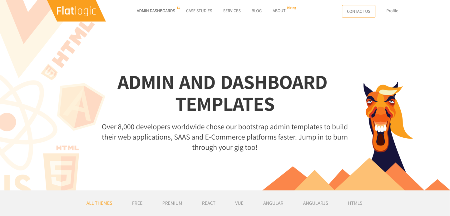 Flatlogic admin dashboard templates