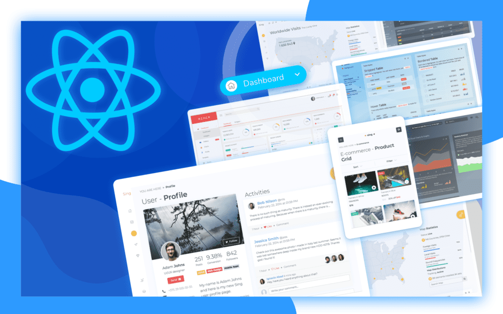 Top 7 React Admin Dashboard Templates For Your Next Web Application
