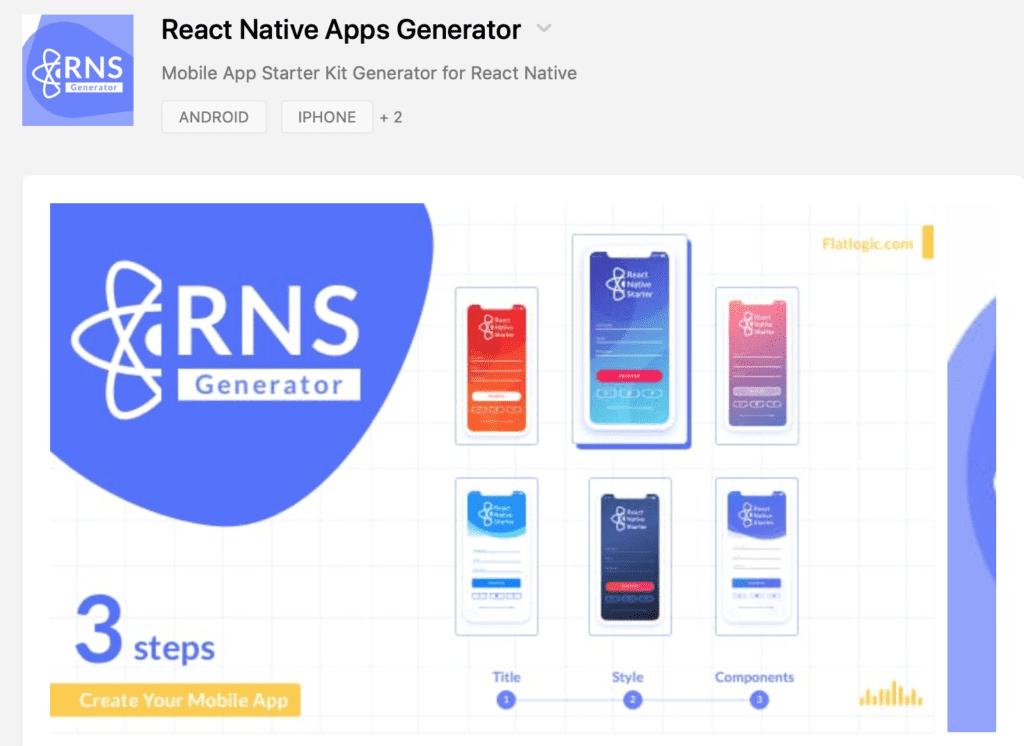 React Native App Generator on Product Hunt - Flatlogic - Blog