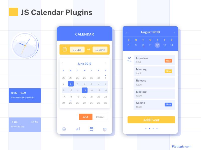 java script calendar plugins