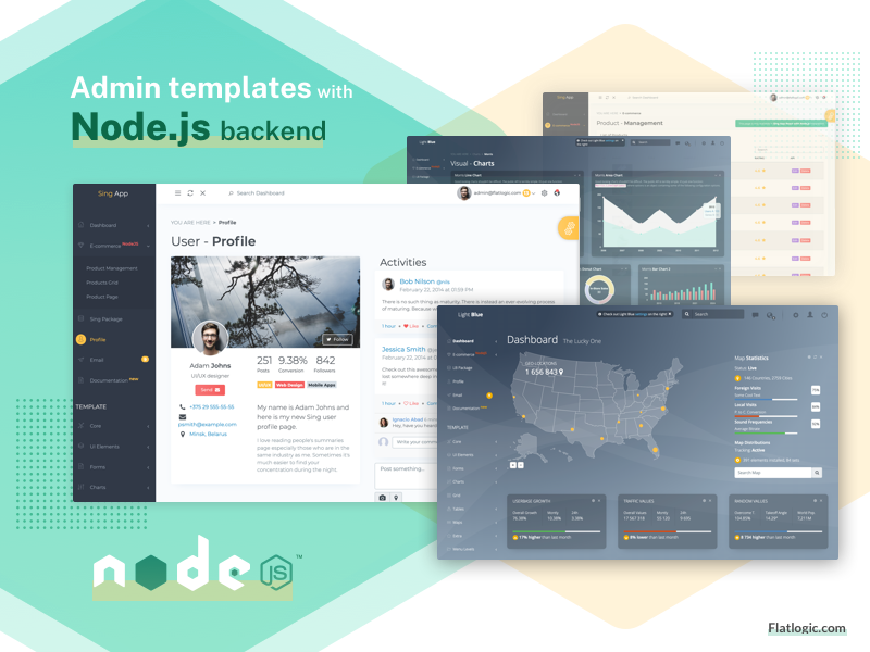 Top 5 Admin Templates With Node.js Backend