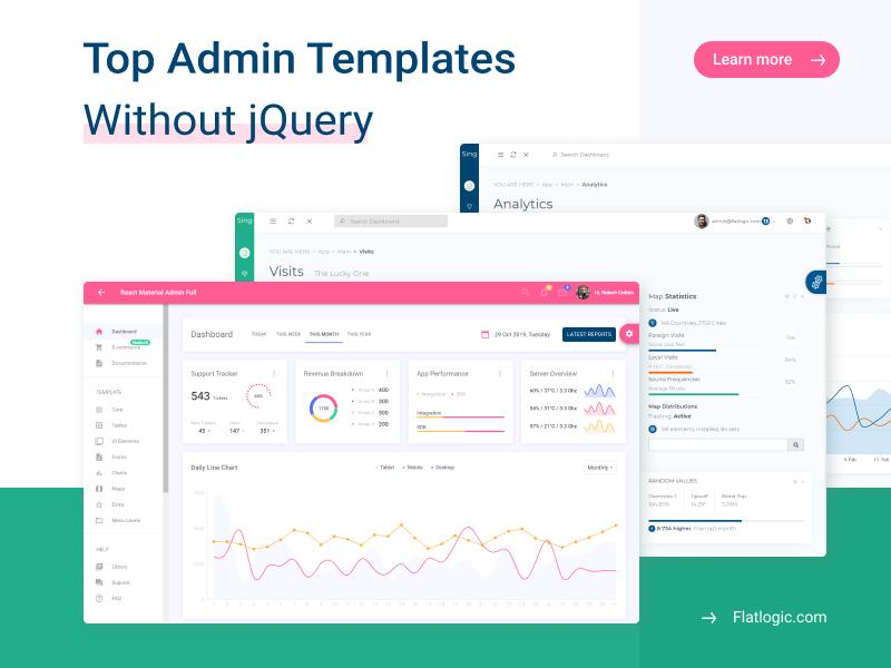 Top 7+ jQuery Free Admin Templates