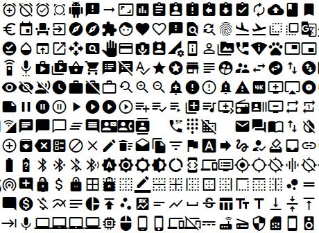 Angular Material Icons screenshot