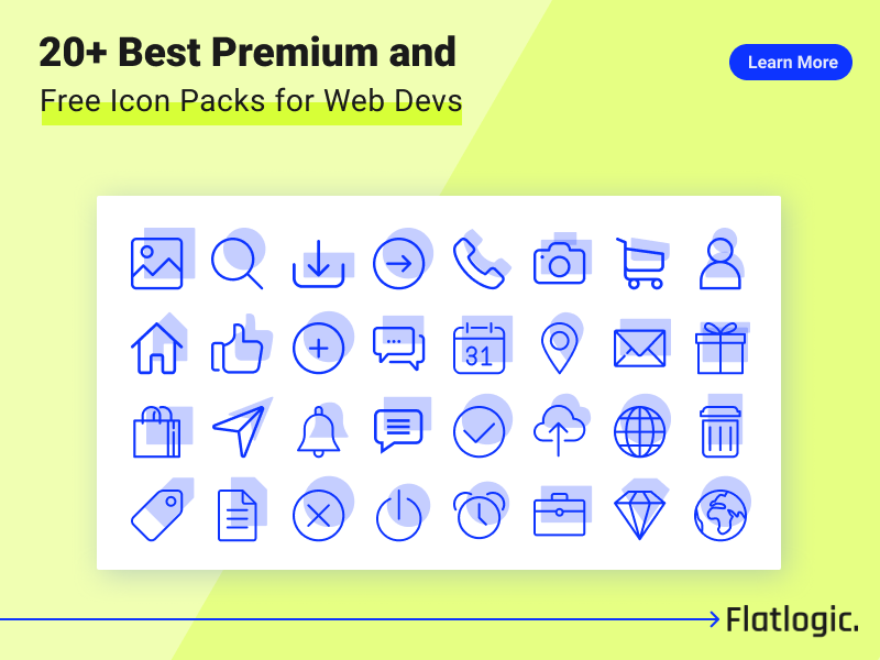 20+ Best Premium and Free Icon Packs for Web Developers and Designers