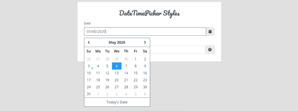 Bootstrap 4 Date Pickers Examples, Bootstrap Date/Time picker
