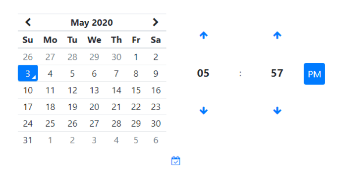 Bootstrap 4 Date Pickers Examples, Bootstrap4 v5 date picker