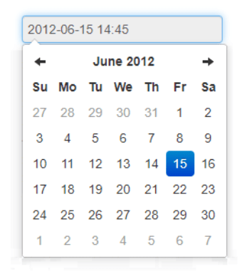 Bootstrap 4 Date Pickers Examples, Date Time Picker from smalot