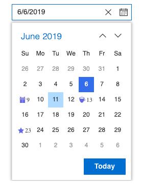 Syncfusion React DatePicker screenshot