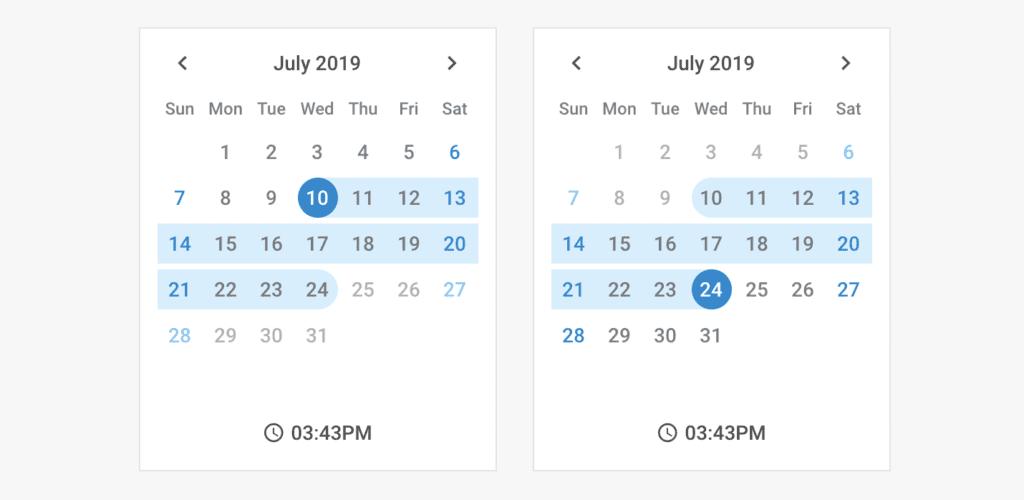 Dhtmlx calendar screenshot