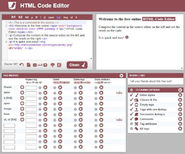 Htmlcodeeditor screenshot
