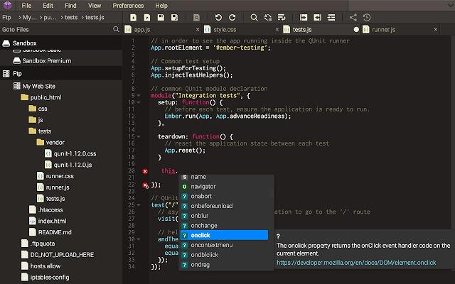 Codeanywhere screenshot