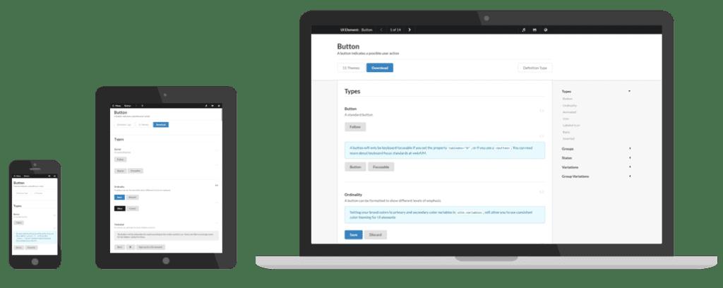 Semantic UI screenshot
