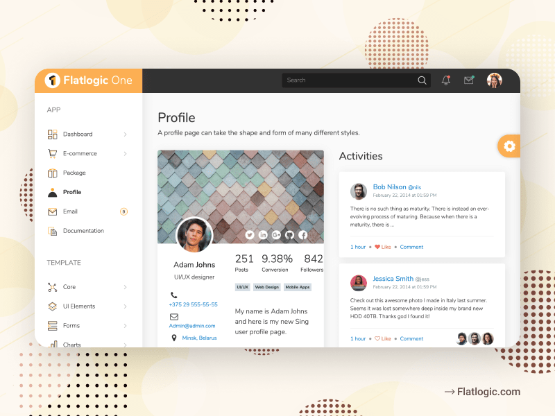 Flatlogic One React Admin Dashboard Template Full is Released!