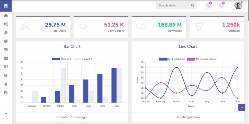 Collective Admin Dashboard Template screenshot
