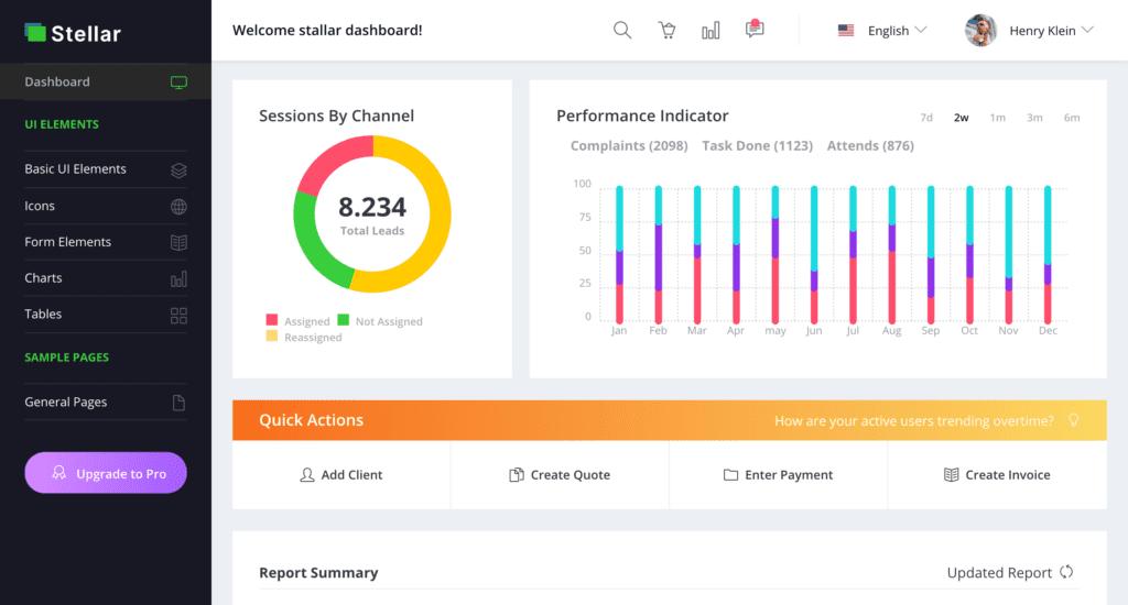 BootstrapDash Admin Dashboard Template screenshot