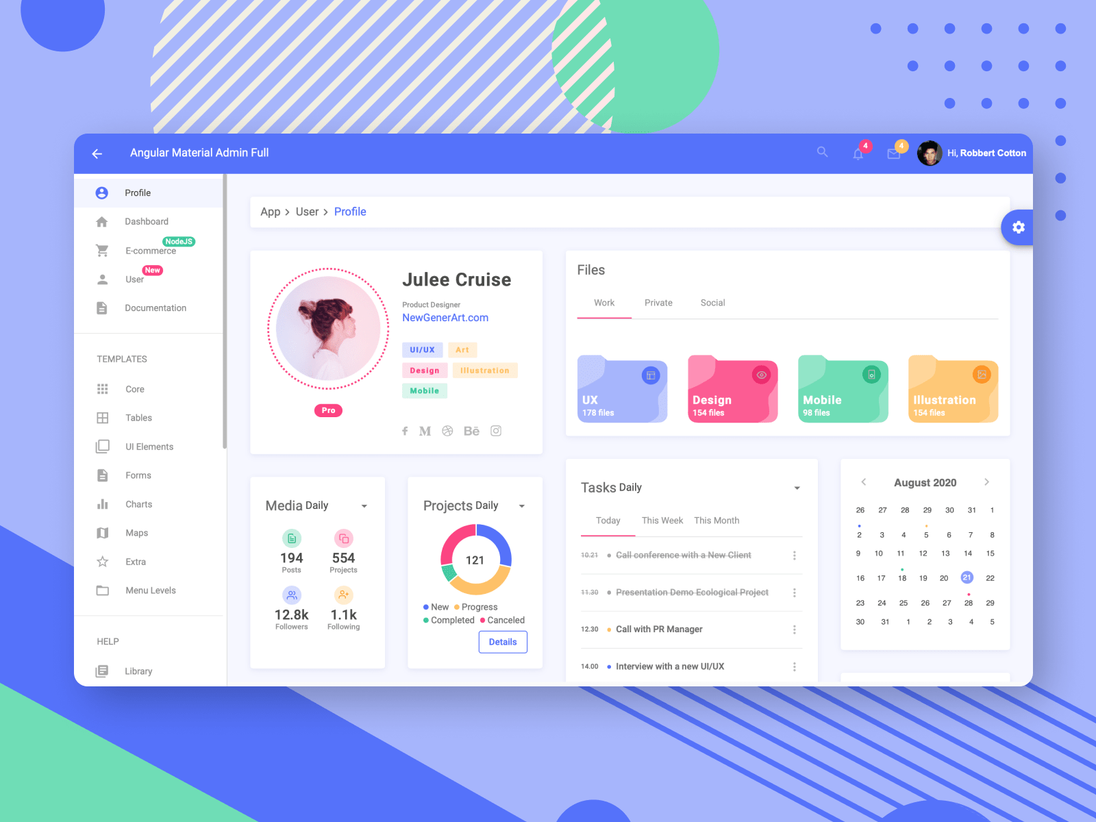 Angular Material Admin Template full version is released!