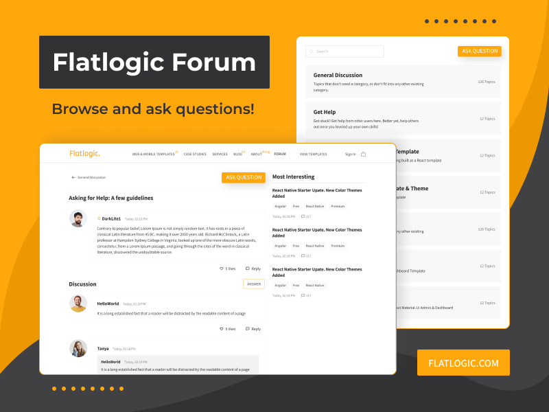 Raise Your Question on the Brand New Flatlogic Forum!