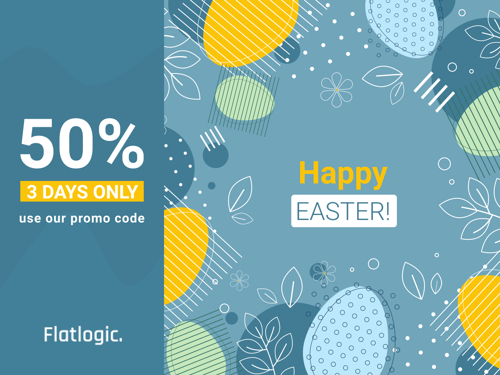 HappyEaster! Flatlogic Gives 50% Discount On All Templates