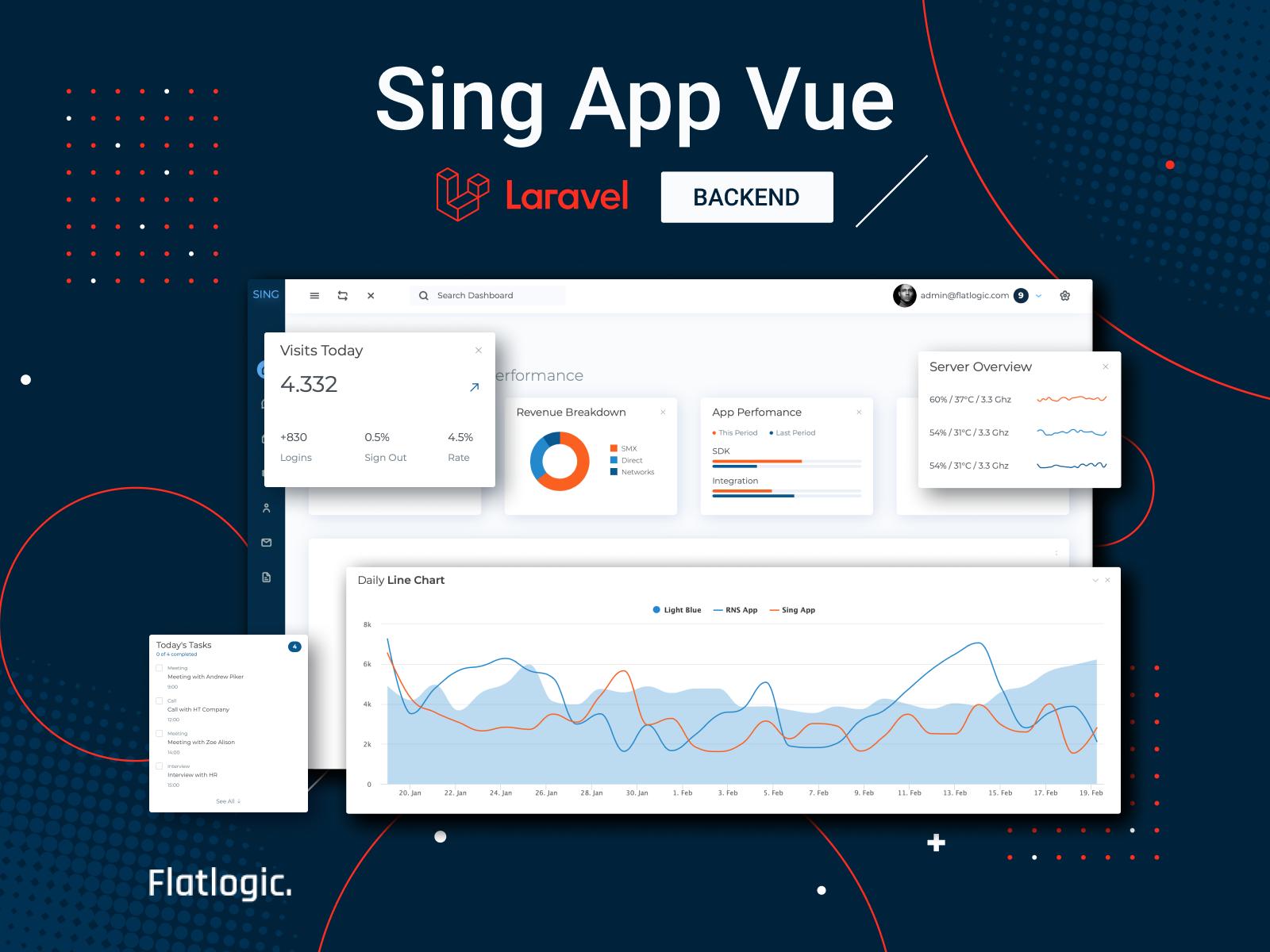 Sing App Vue Laravel Template is Released