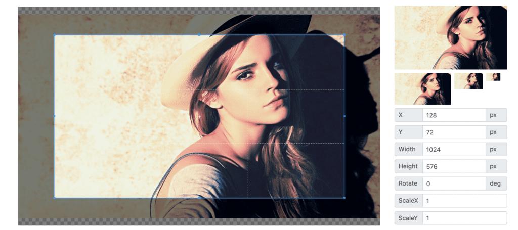 Cropper JavaScript image manipulation library