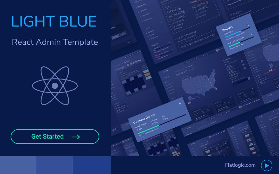 Light Blue admin template