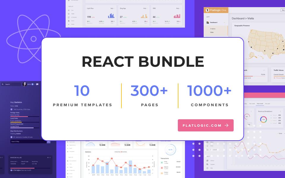 a set of react admin templates