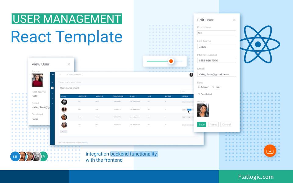 user management react template