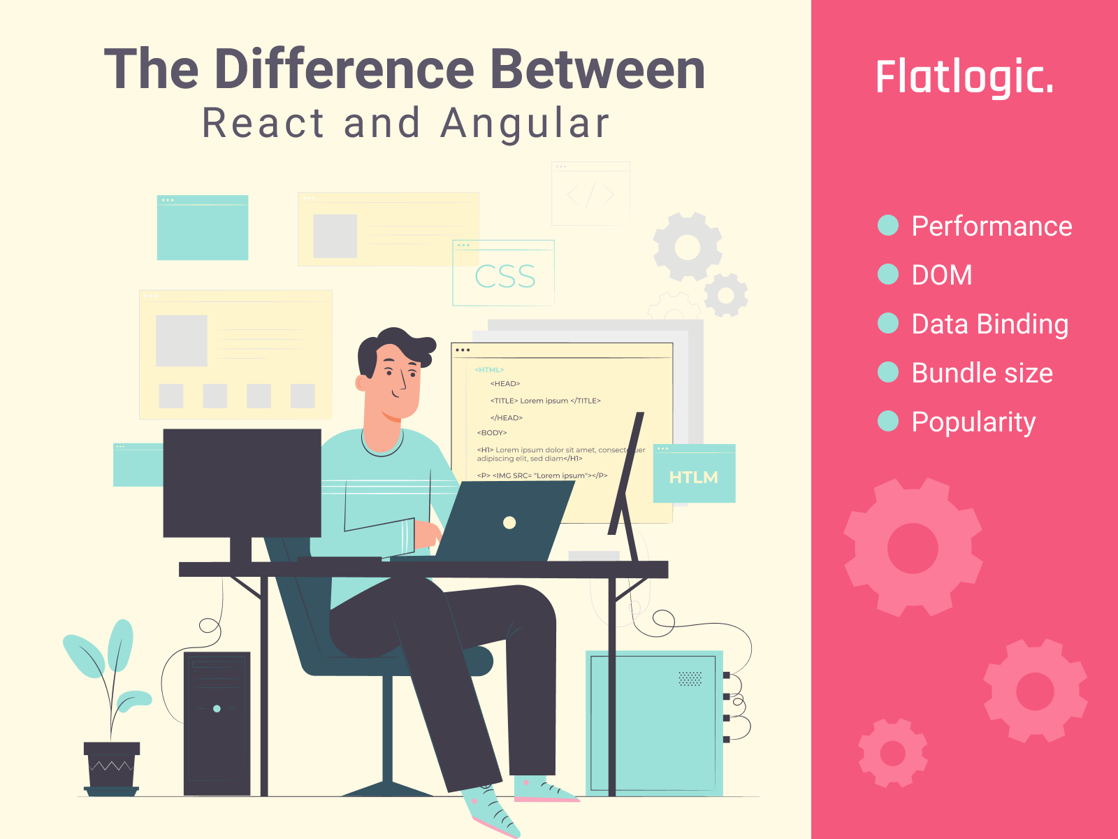 Difference Between React and Angular. A Comparison Guide for 2021