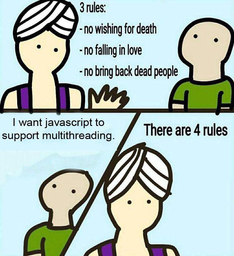 javascript multithreading