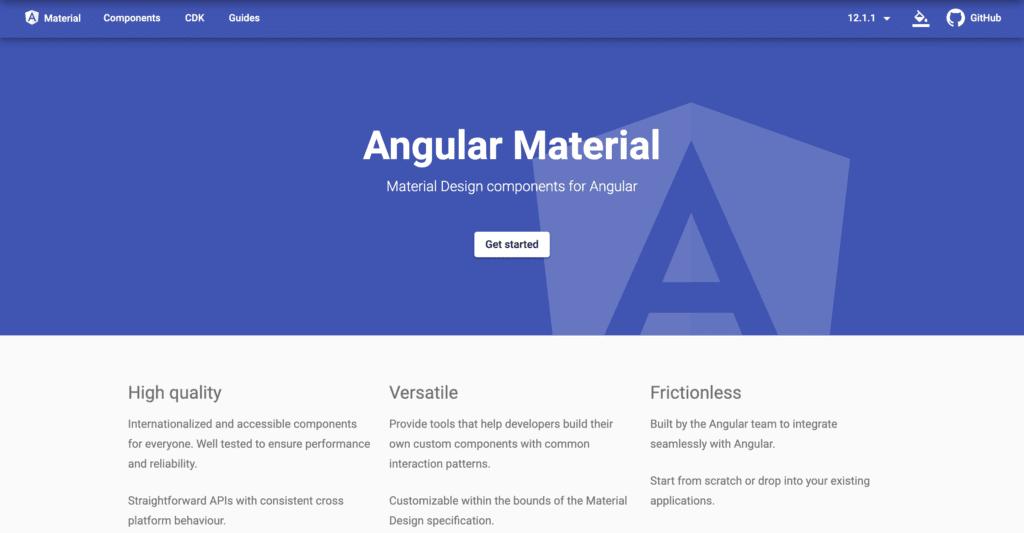 Bootstrap Alternative angular material