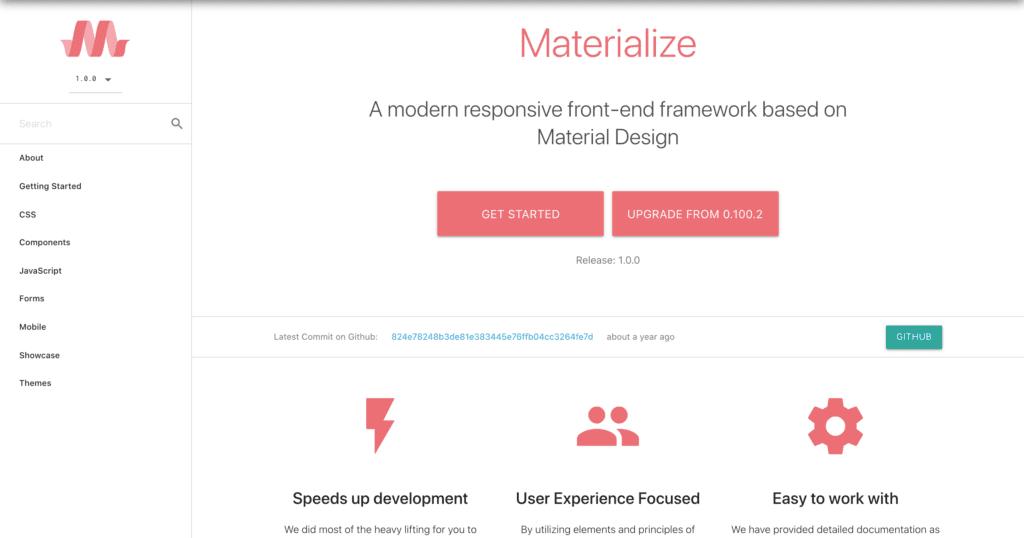 Bootstrap Alternative materialize