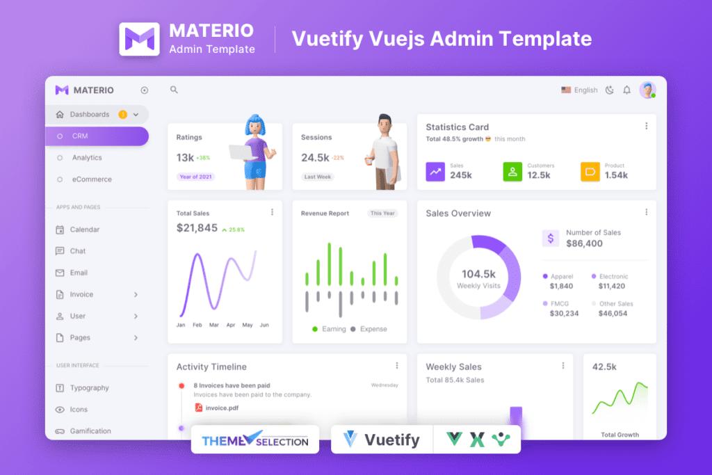 Materio Vuetify VueJS Admin Template